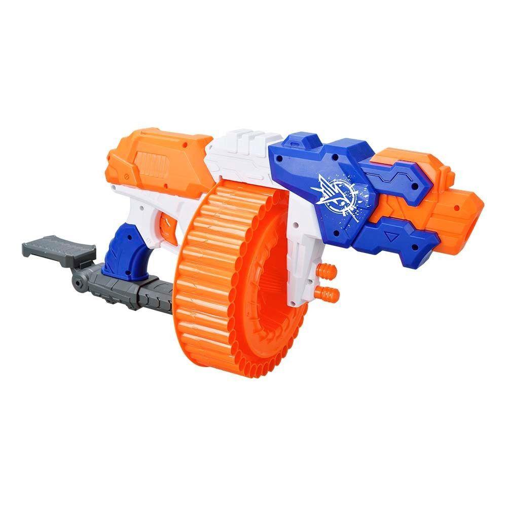 Arma de brinquedo metralhadora Lançador Super Shoot Turbo
