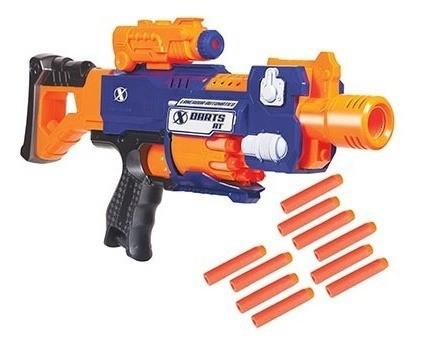 Arminha De Brinquedo Infantil Lançador Dardos X Darts