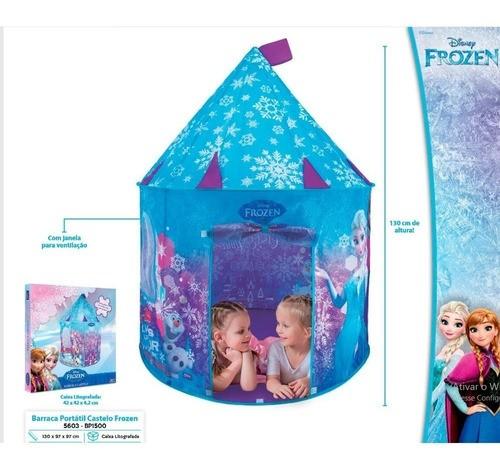 Barraca Infantil Frozen Castelo Brinquedo Dobrável Tenda