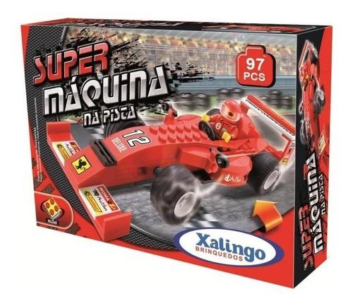 Blocos De Montar Carrinho Super Máquina - Xalingo
