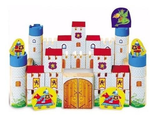 Blocos De Montar Madeira Castelo Dragão E Princesas