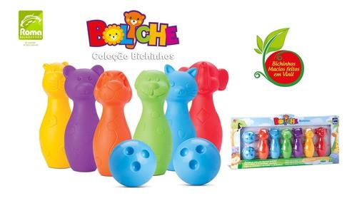 Boliche Infantil Bichinhos 6 Pinos 2 Bolas Brinquedo