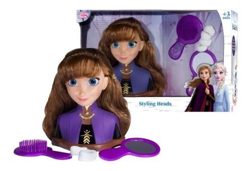 Boneca Anna Frozen Brinquedo Styling Head Busto