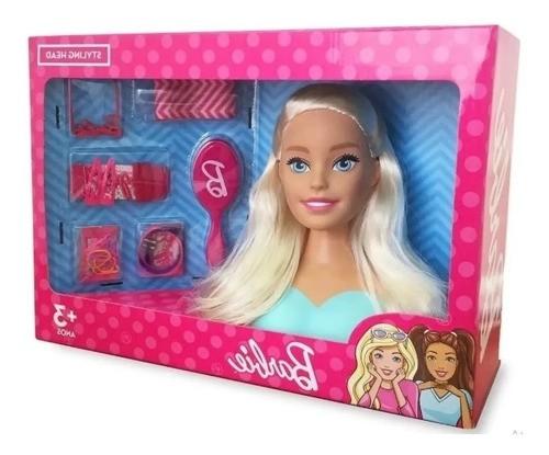Boneca Barbie busto Styling Head Faça Penteados com Acessórios