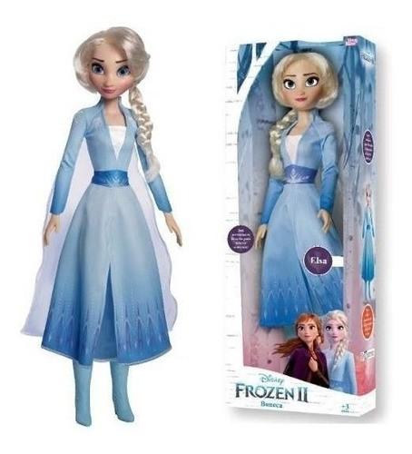 Boneca Frozen Elsa Brinquedo Disney Original 55cm