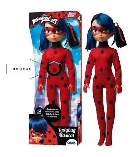 Boneca Ladybug Músical Brinquedo Miraculous Original