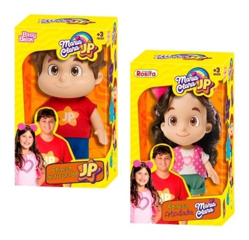 Boneca Maria Clara e Jp Youtubers Articulado Babybrink