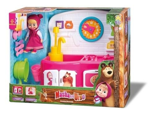 Boneca Masha E O Urso Cozinha Infantil Brinquedo Acessórios