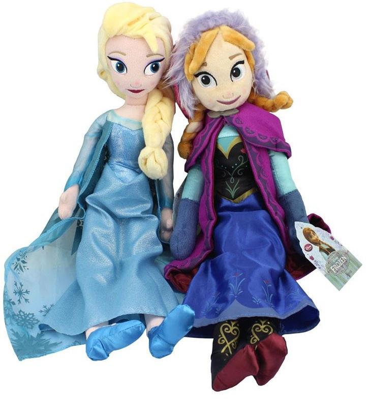 Boneca Pelúcia Frozen Princesas Ana e Elsa