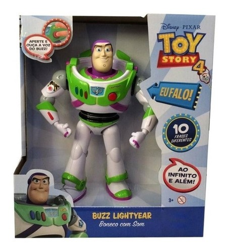 Boneco Buzz Lightyear Com Som Toy Story Brinquedo Original