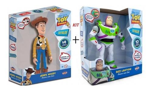Boneco Buzz Lightyear e Woody Com Som Toy Story Brinquedo Original