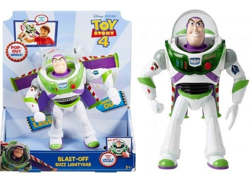 Buzz Lightyear Boneco Toy Story 4 Voo Espacial 10 Frases