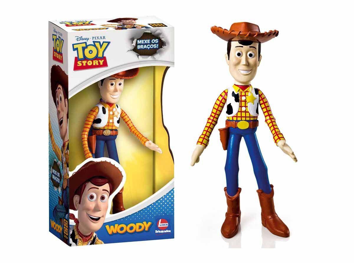 Wood Boneco Toy Story  Xerife Vinil Articulado Brinquedo - Lider