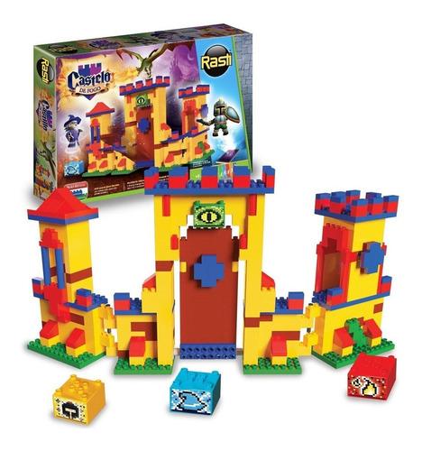 Brinquedo Educativo Blocos De Montar Castelo De Fogo 400 Rasti