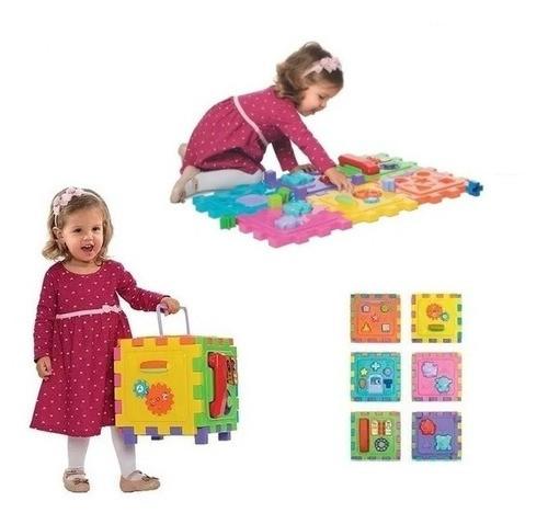 Brinquedo Educativo Cubo Didático Grande Brinquedo Encaixar