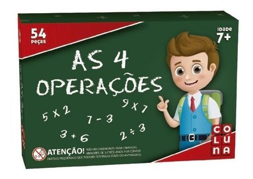 Brinquedo Educativo Matemática 4 Operações Pedagógico