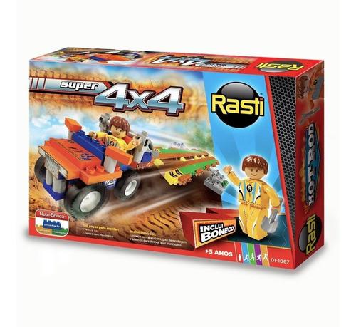 Brinquedo Infantil Carrinho Blocos De Montar Super 4x4 Rasti