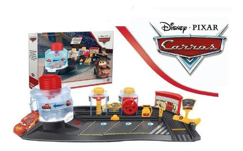Brinquedo Lava Rápido Carros Relâmpago Mcqueen e Cruz Ramirez
