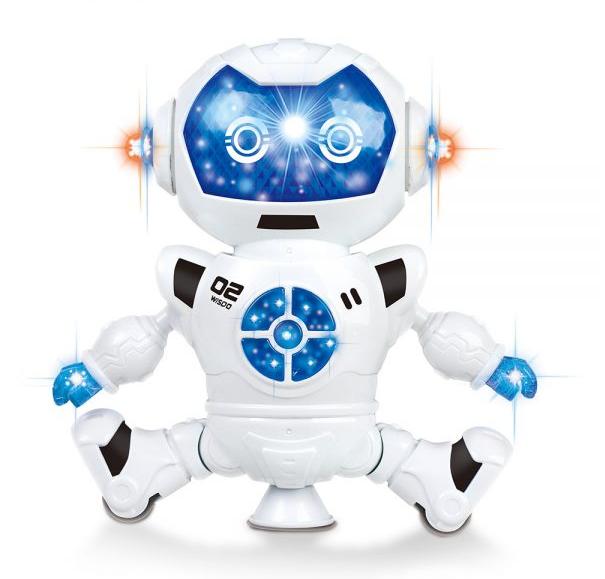 Brinquedo Para Crianças Robô Que Dança Gira E Toca Música