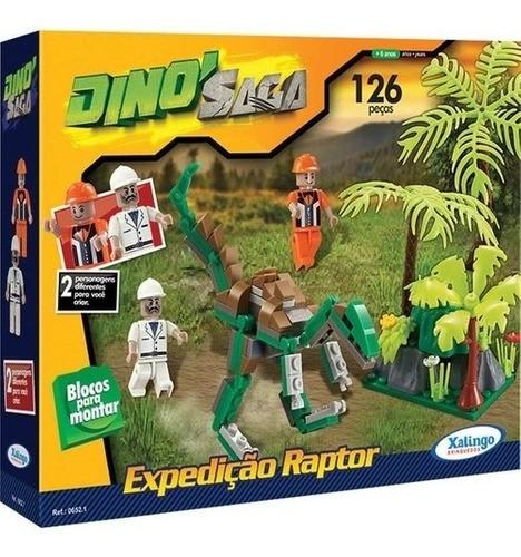Brinquedo Para Montar Dinossauro Expedição Blocos Jurassic