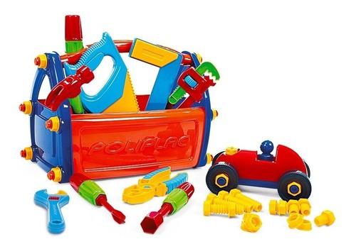 Caixa de ferramentas Infantil kit brinquedo didático maleta