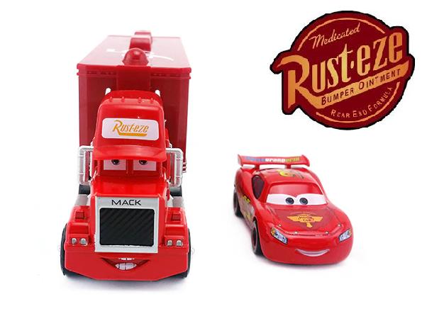 Carreta Caminhão Carros Disney Relâmpago McQueen Vermelha