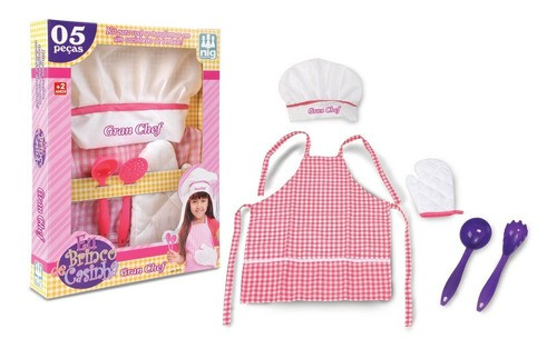 Cozinha Infantil Kit Cozinheiro Master Chef Brinquedos