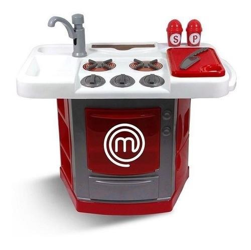 Cozinha Master Chef Junior Brinquedo Bancada Pia Cozinheiro
