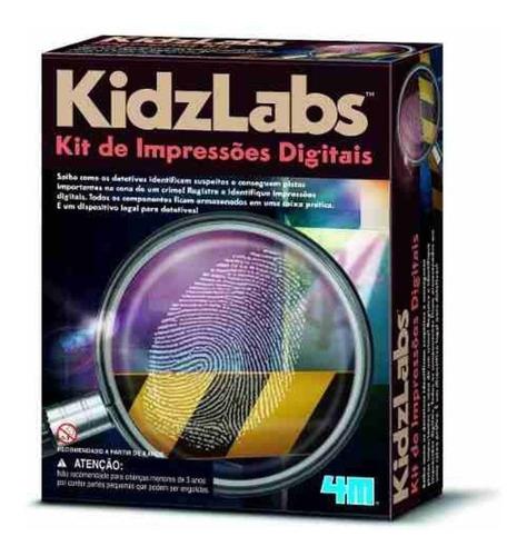 Detetive Kit De Impressões Digitais jogo Brinquedo Educativo 4M