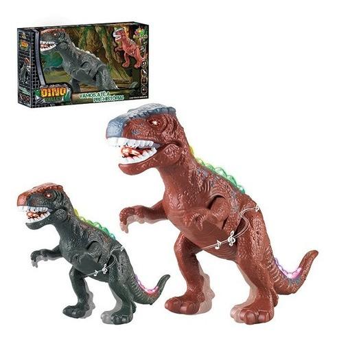 Dinossauro rex anda Emite Luz e som brinquedo Valey