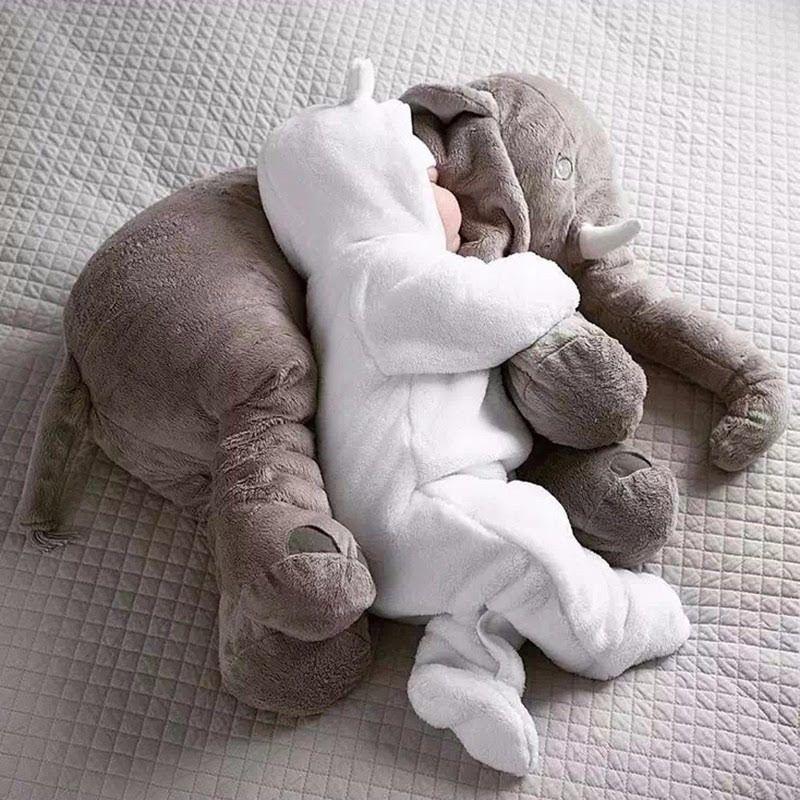 Elefante Travesseiro Soninho Para Bebês Almofada 60 cm Pelúcia Grande