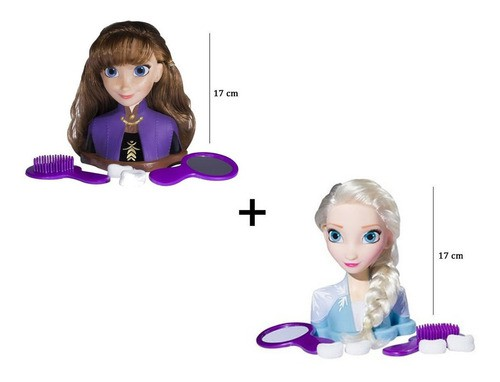 Frozen Boneca Anna e Elsa Styling Head Original