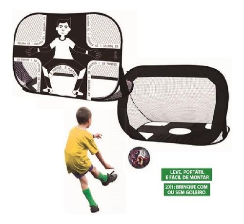 Golzinho Travinha Futebol Infantil Chute Gol 2 Em 1
