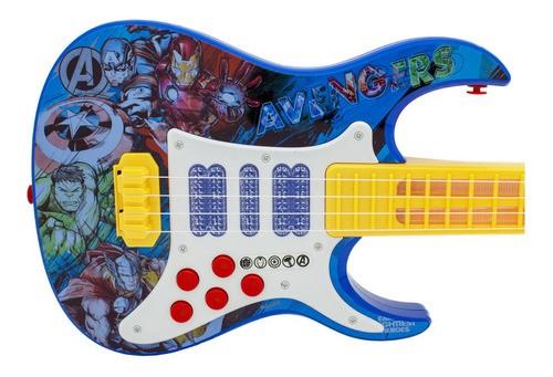 Guitarra Infantil Vingadores Som E Luzes Brinquedos