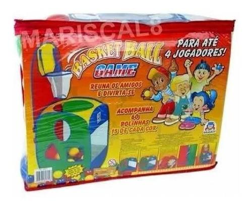 Jogo De Basquete Basket Ball Cesta Com 60 Bolinhas Brinquedo