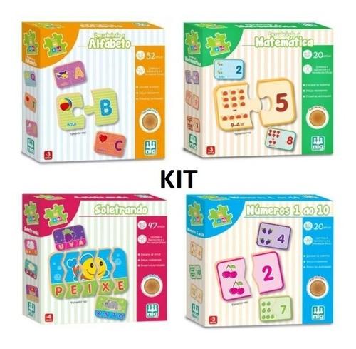 Jogo Educativo Kit Brinquedo Pedagógico Essencial Criança