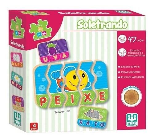 Jogo soletrando Palavras Pedagógico Brinquedo Educativo Mdf