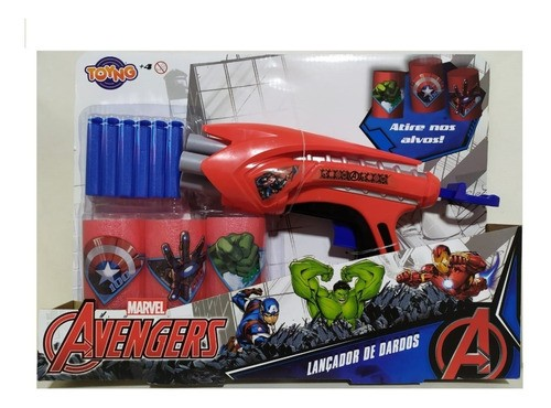 Lançador De Dardos Arminha De Brinquedos Vingadores