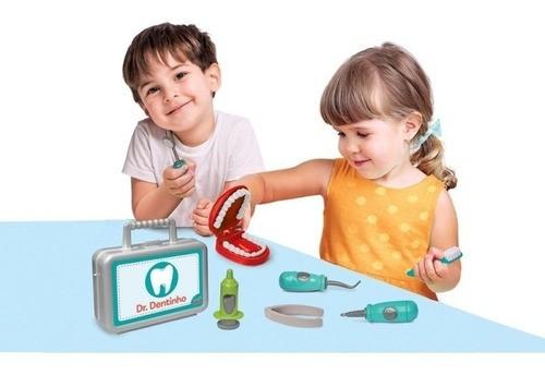 Brincando de Médico Dentista Dr Dentinho brinquedo Elka
