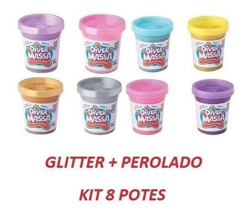 Massinha De Modelar Glitter E Perolado Brinquedo Educativo