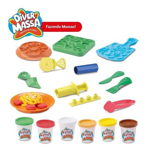 Massinha De Modelar Super Fazendo Massa Brinquedo Comidinha