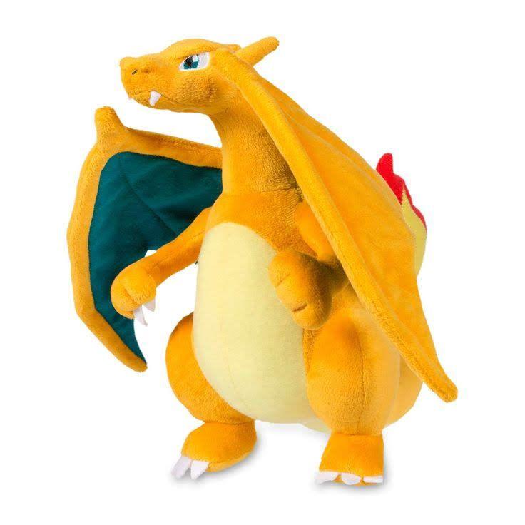 Mega Charizard Y Laranja Pokemon Brinquedo Pelucia Charizard
