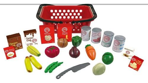 Brinquedo do  Masterchef Mercadinho Frutas e Legumes Cortar