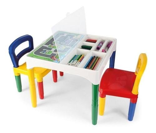 Mesinha Infantil 2 Cadeiras Brinquedo Didático