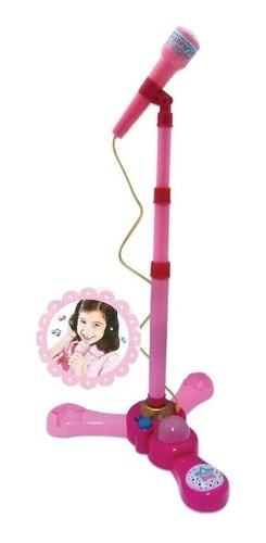 Microfone Infantil para meninas Brinquedo Musical rosa Com Luz E Som