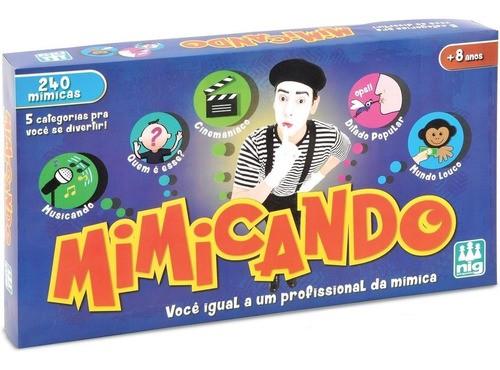 Mímica Jogo Mimicando Tabuleiro A Brinquedos Nig