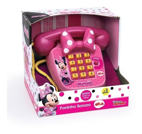 Minnie Musical Brinquedo Telefone Infantil Minnie Foninho