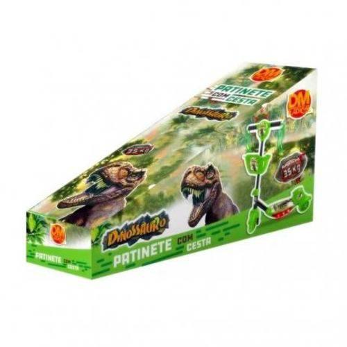 Patinete menino Verde Dinossauro Jurassic Acende As Luzes T Rex