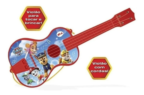 Patrulha Canina Brinquedo Violão Infantil Grande 52cm Elka
