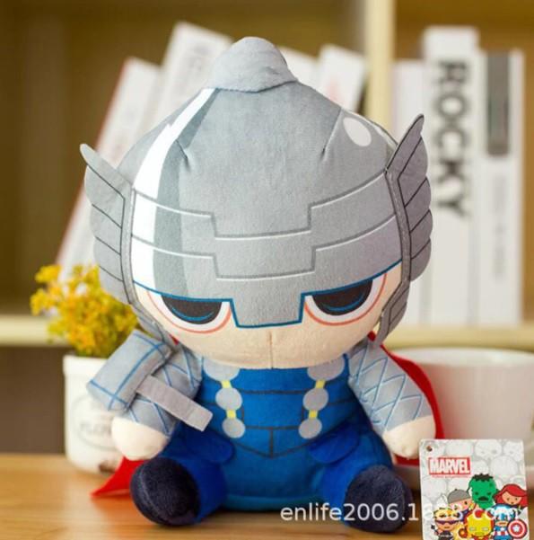 Pelúcia Vingadores Thor Martelo Heróis Marvel Brinquedos